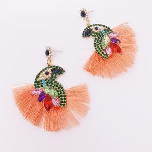 Jewelry - Peach Tassel Earrings